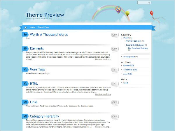 Rainbow Free WordPress Theme