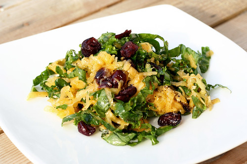 Raw Butternut Squash and Kale Salad - Gluten-free + Vegan