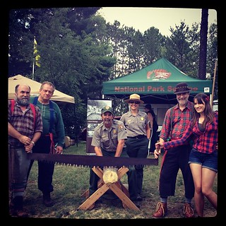 Owlchemy Labs sent Kate to the World Lumberjack Championships