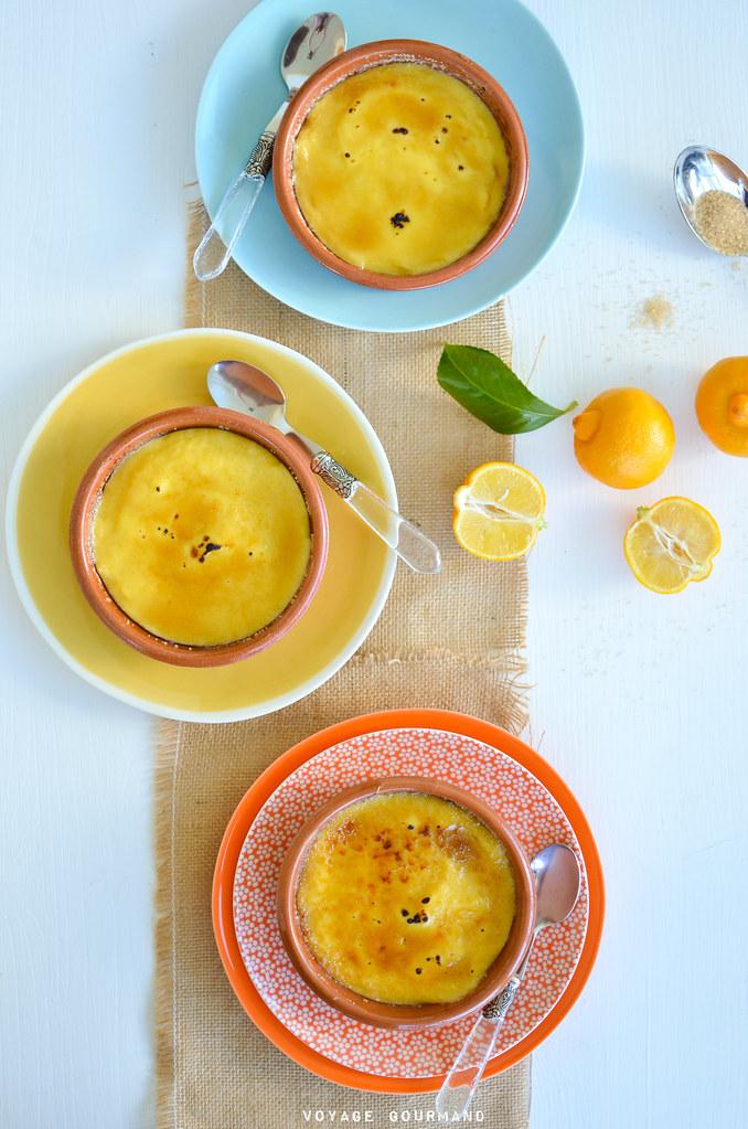 Crème caramélisée au citron bergamote