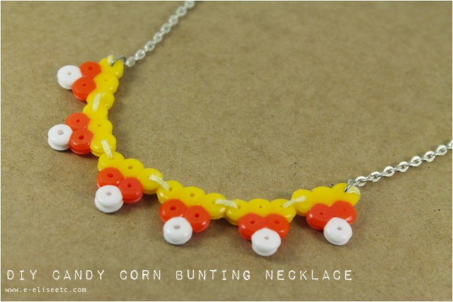candy corn bunting necklace 11 diy