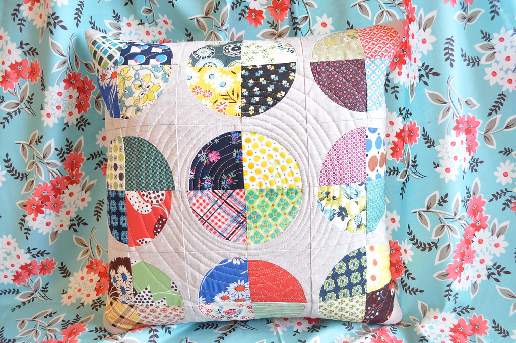 Denyse Schmidt fabric quilted Pillow
