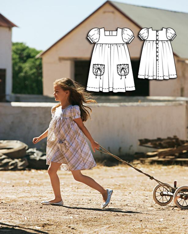Girls dress sewing pattern 151 052010