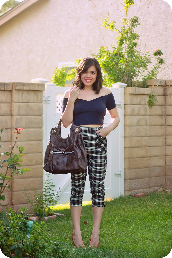 Sweets and Hearts - fashion and style post with Voodoo Vixen plaid cropped pants 2016