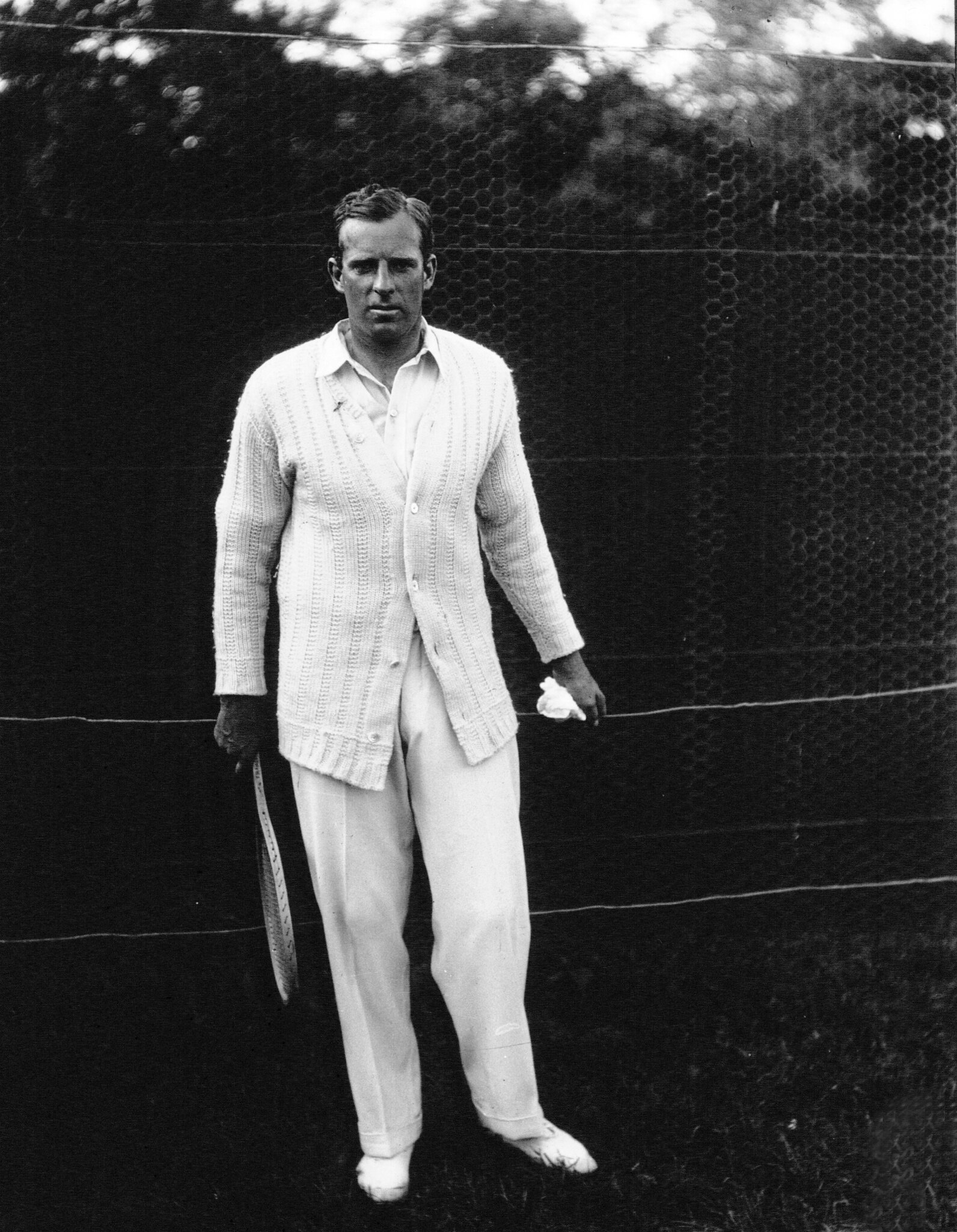 New Zealand tennis player Anthony Wilding in 1913