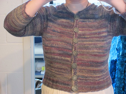 Cardigan With Grosgrain Supported Buttonband