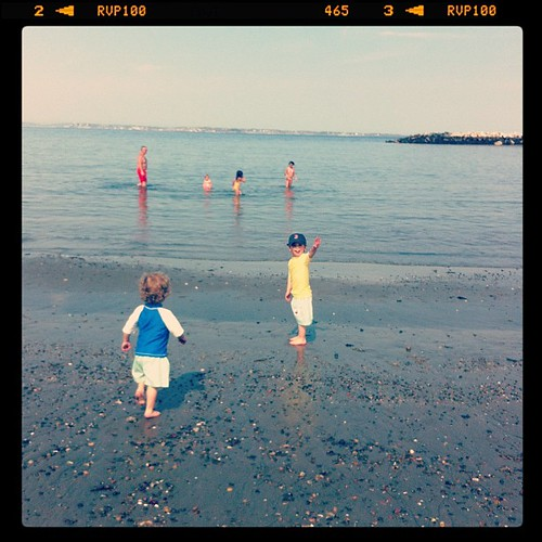 1st time at the beach in 2012