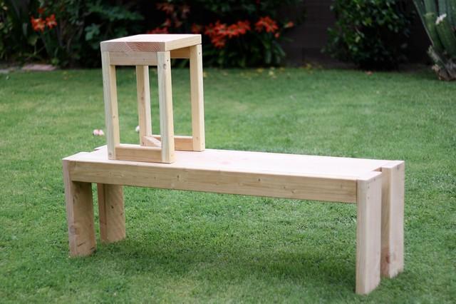 bench + stool