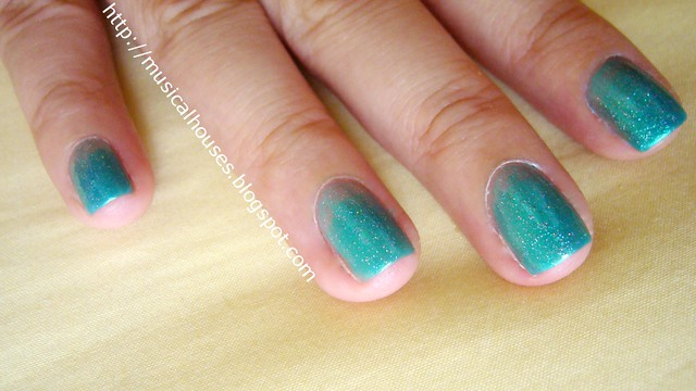 china glaze beauty and the beach fairydust syrup manicure 3