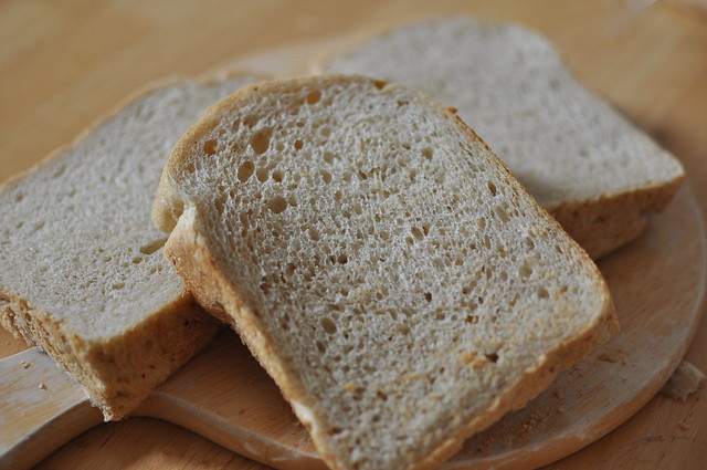Rice bran bread