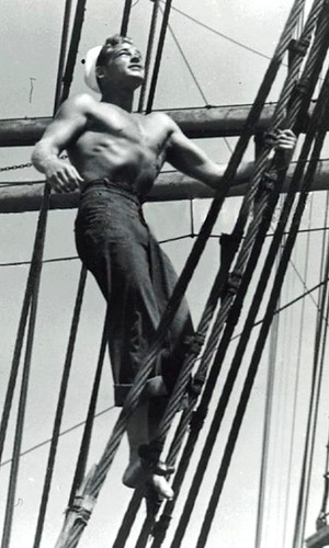 Guy Madison , sailor in WW2,  actor 1945 etc