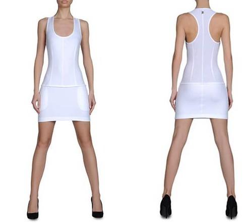 vestido-Bikkembergs-elastico-ceñido