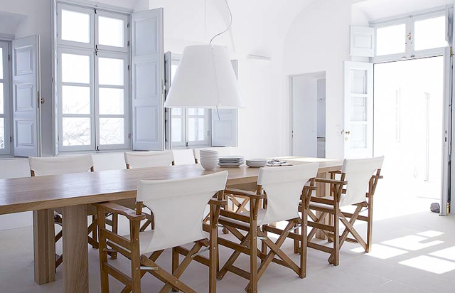white dining room-white washed