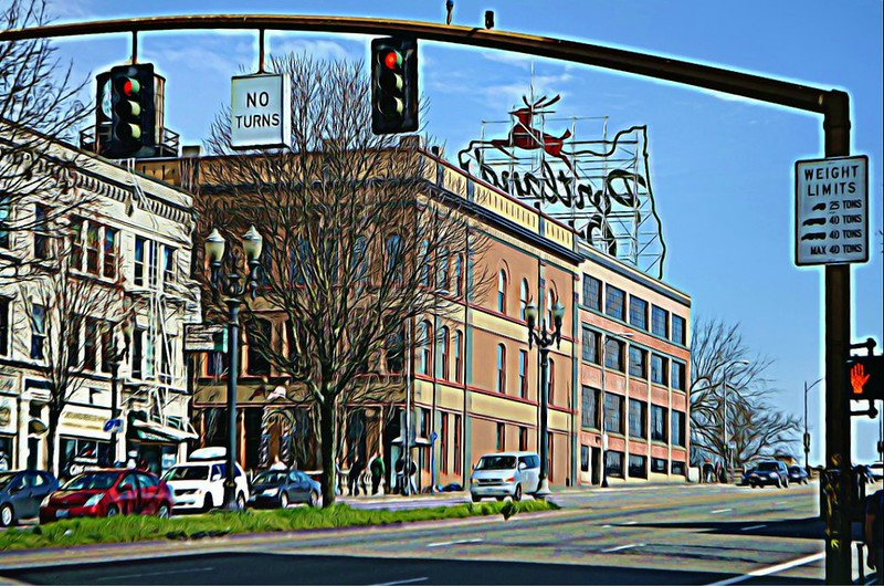 BeFunky_Portland_sign_from_behind_cartoonizer_BeFunky_FeaturedEffects_3