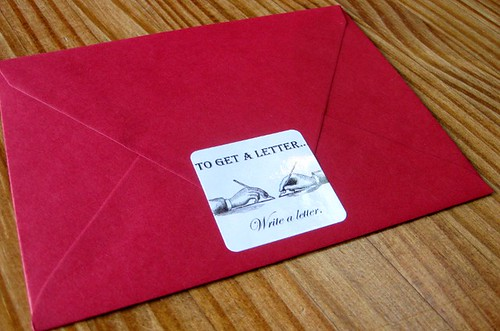 On red envelope, side