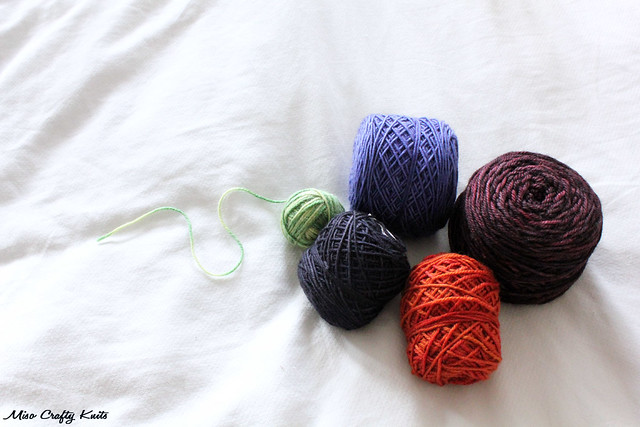 Left over yarn balls