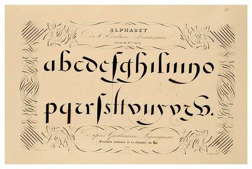 011-Alphabet-Album collection de soixante feuilles d'alphabets historiés 1843- Joseph-Balthazar Silvestre