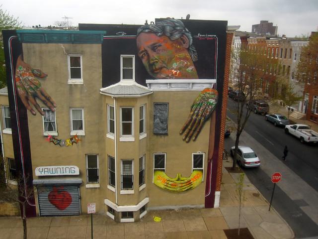 OverUnder mural for Dennis Livingston, Baltimore