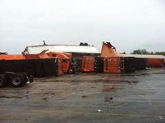 Tornado struck truck yard
