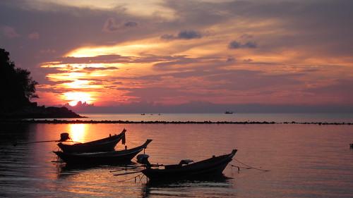 Koh phangan Salad Beach Sunset コパンガン 夕景 (1)