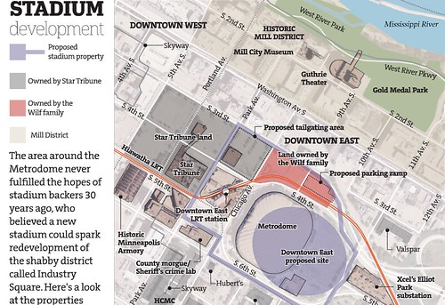 Property Parcels for New Vikings Stadium