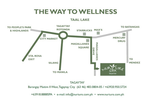 nurture spa tagaytay map