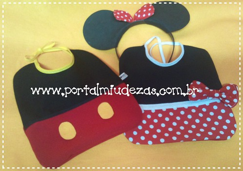 Babadores Minnie & Mickey by miudezas_miudezas