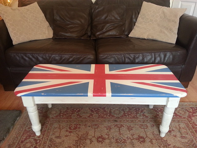 Union Jack Table Painted With Annie Sloan Chalk Paints Flickr Photo Sharing