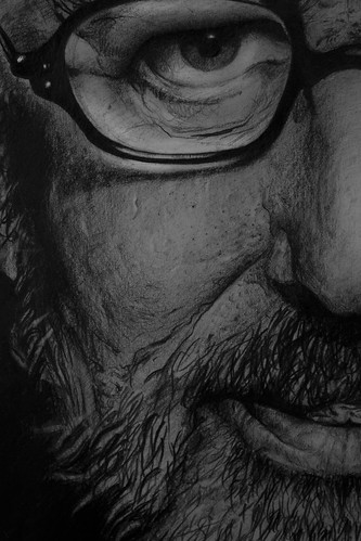 Steven Spielberg drawing 2012 john kamberai by John Kamberai