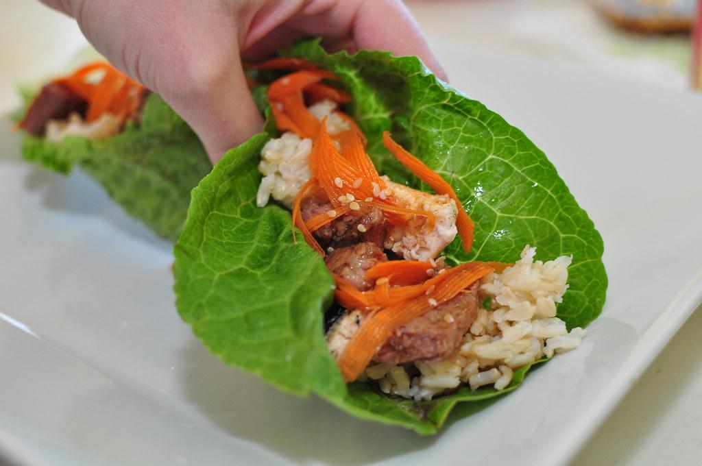 Sesame Beef Lettuce Wraps - Meg's Everyday Indulgence