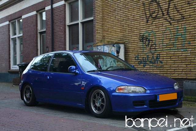 Honda Civic EG on Hayashi Street rims