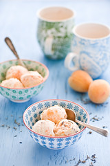 Peach and lavender Ice cream