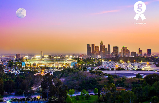 Dodger Stadium And Downtown Los Angeles A Gallery On Flickr