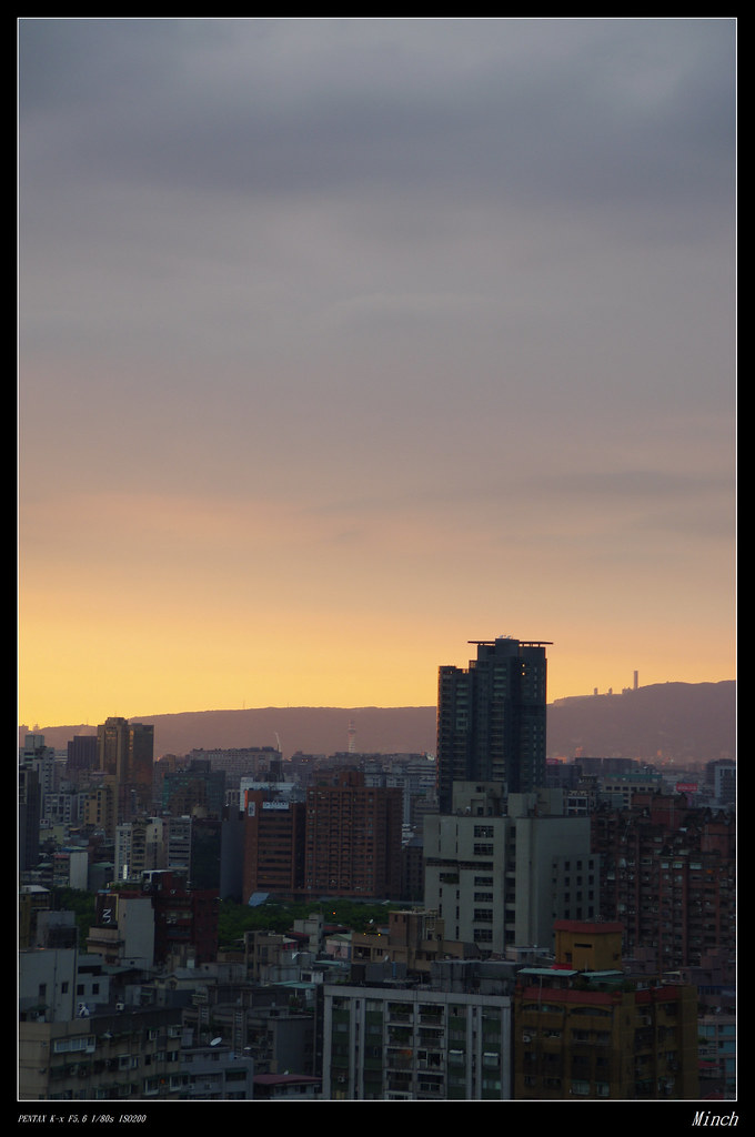 下班前的夕陽