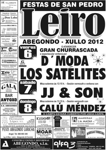 Abegondo 2012 - Festas de San Pedro en Leiro - cartel