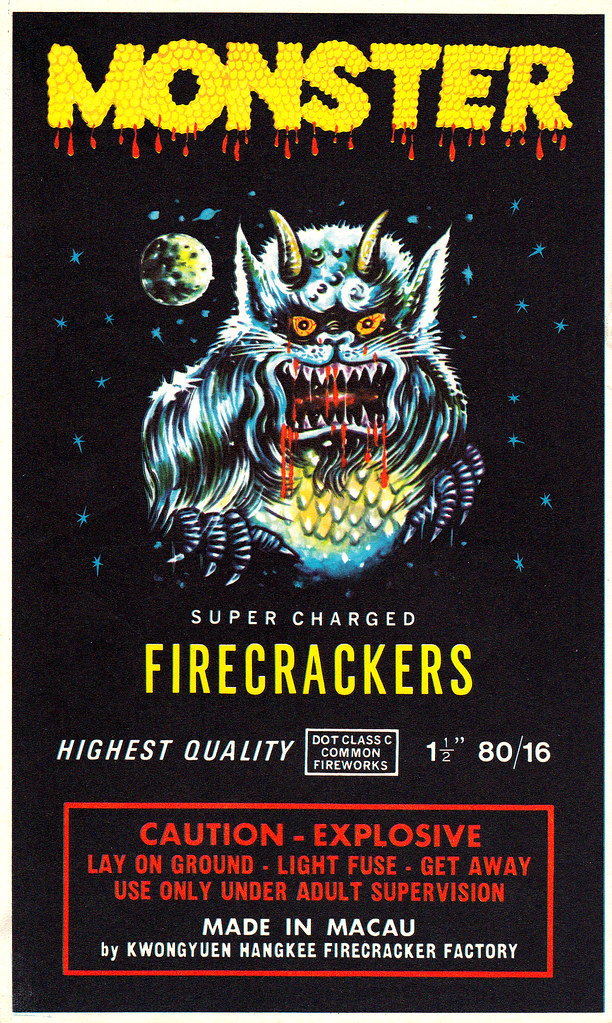 Monster - Firecracker Brick Label