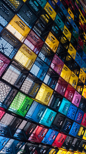 milk crates @ Darling Foundry
