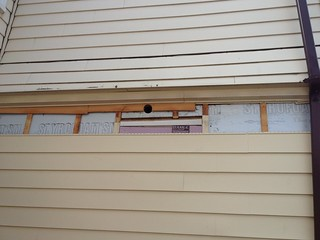 Fixing outside vent