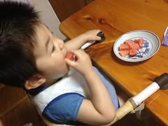 スイカを食べるよ^^ (2012/7/14)