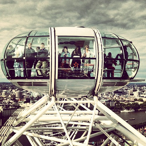 Top of the eye.