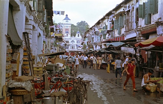 Just another day - in a now gone Singapore side street -1972