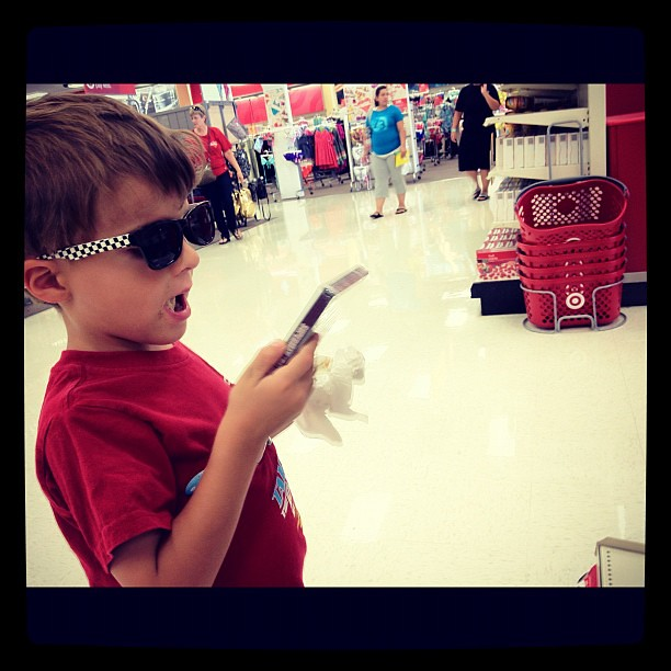 The dudes got to wear shades in the store