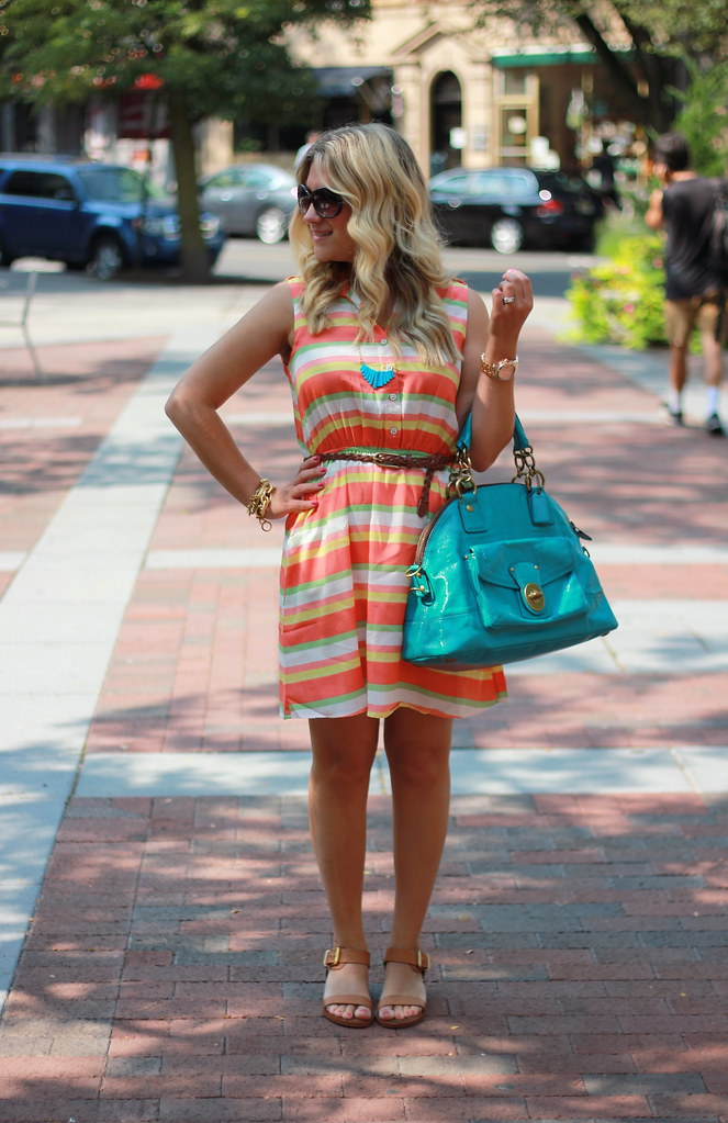 Candy Colored Stripes Dress