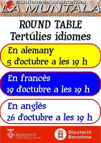 Round table @ octubre by bibliotecalamuntala
