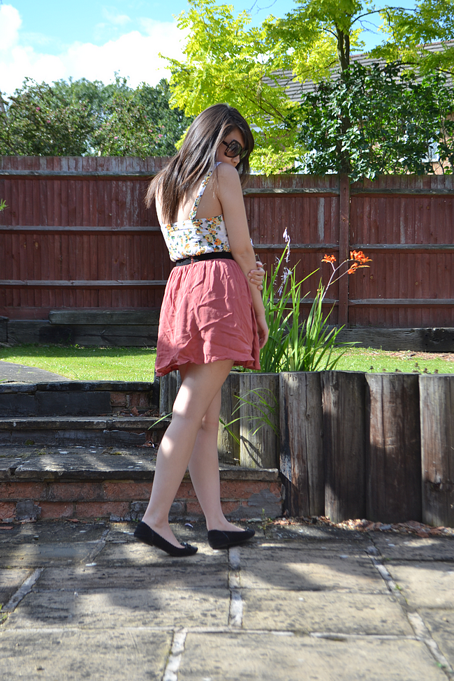 daisybutter - UK Style and Fashion Blog: what i wore, ootd, wiwt, topshop, bralet and skirt