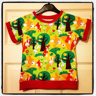 Rheya's new top #sewing #dolman #knitfabric