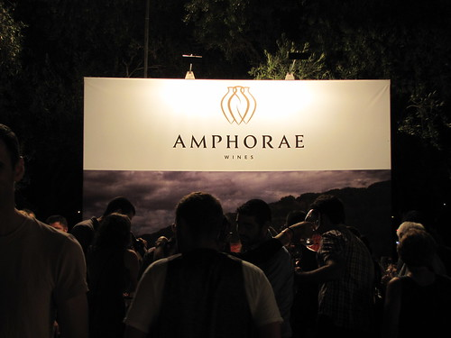 Amphorae's booth at the Wine Festival