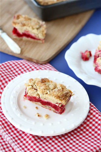 Cookin Canuck - Raspberry Crumb Bar Recipe with Almond Streusel