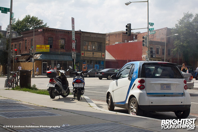 Car2Go outside Busboys & Poets