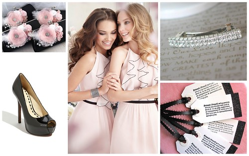 {Pale Pink + Black} Bridesmaid's Style Inspiration by Nina Renee Designs